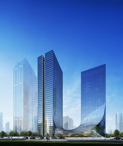 l型新中式建筑